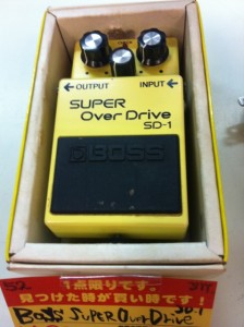 boss sd-1 スーパーオーバードライブ エフェクター
