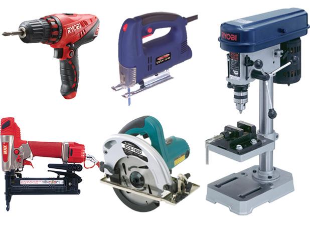 日曜大工、DIYで活躍した電動工具類